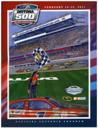 "Canvas 36"" x 48"" 53rd Annual 2011 Daytona 500 Program Print - Mounted Memories"
