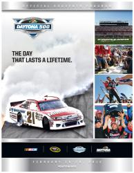 "Canvas 36"" x 48"" 54th Annual 2012 Daytona 500 Program Print - Mounted Memories"