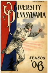 1906 Penn Quakers Season Cover 36x48 Canvas Historic Football Poster - Mounted Memories