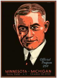 1926 Michigan Wolverines vs Minnesota Golden Gophers 36x48 Canvas Historic Football Print
