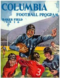 1928 Columbia Lions Season Cover 36x48 Canvas Historic Football Poster - Mounted Memories