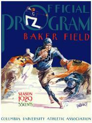 1929 Columbia Lions Season Cover 36x48 Canvas Historic Football Poster
