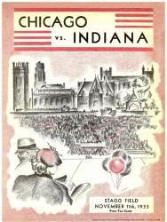 1933 Indiana Hoosiers vs Chicago Maroons 36x48 Canvas Historic Football Program