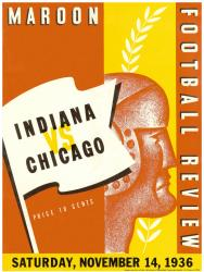 1936 Indiana Hoosiers vs Chicago Maroons 36x48 Canvas Historic Football Program