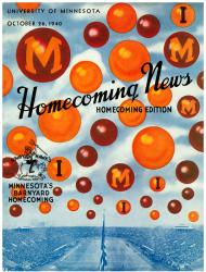 1940 Minnesota Golden Gophers vs Iowa Hawkeyes 36x48 Canvas Historic Football Poster
