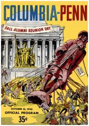 1948 Columbia Lions vs Penn Quakers 36x48 Canvas Historic Football Poster