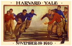 1910 Yale Bulldogs vs Harvard Crimson 36x48 Canvas Historic Football Program