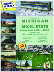 1956 Michigan Wolverines vs Michigan State Spartans 36x48 Canvas Historic Football Program