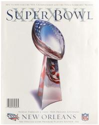 "2002 Patriots vs Rams 36"" x 48"" Canvas Super Bowl XXXVI Program"