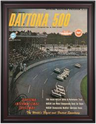 "Framed 36"" x 48"" 6th Annual 1964 Daytona 500 Program Print"