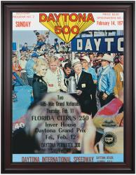 "Framed 36"" x 48"" 13th Annual 1971 Daytona 500 Program Print - Mounted Memories"