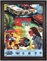 "Framed 36"" x 48"" 15th Annual 1973 Daytona 500 Program Print - Mounted Memories"