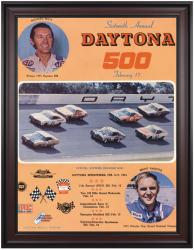 "Framed 36"" x 48"" 16th Annual 1974 Daytona 500 Program Print"