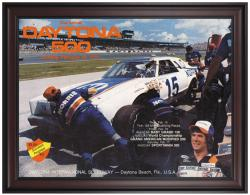 "Framed 36"" x 48"" 21st Annual 1979 Daytona 500 Program Print - Mounted Memories"