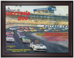 "Framed 36"" x 48"" 23rd Annual 1981 Daytona 500 Program Print - Mounted Memories"