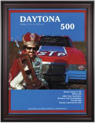 "Framed 36"" x 48"" 24th Annual 1982 Daytona 500 Program Print - Mounted Memories"