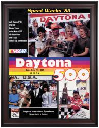 "Framed 36"" x 48"" 27th Annual 1985 Daytona 500 Program Print - Mounted Memories"