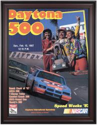 "Framed 36"" x 48"" 29th Annual 1987 Daytona 500 Program Print - Mounted Memories"