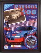 "Framed 36"" x 48"" 30th Annual 1988 Daytona 500 Program Print"