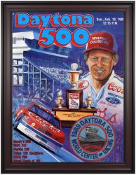 "Framed 36"" x 48"" 31st Annual 1989 Daytona 500 Program Print - Mounted Memories"