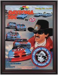 "Framed 36"" x 48"" 33rd Annual 1991 Daytona 500 Program Print - Mounted Memories"