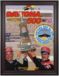 "Framed 36"" x 48"" 35th Annual 1993 Daytona 500 Program Print"