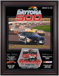 "Framed 36"" x 48"" 38th Annual 1996 Daytona 500 Program Print - Mounted Memories"
