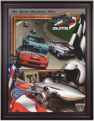 "Framed 36"" x 48"" 40th Annual 1998 Daytona 500 Program Print - Mounted Memories"