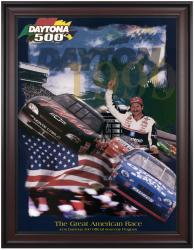 "Framed 36"" x 48"" 41st Annual 1999 Daytona 500 Program Print - Mounted Memories"