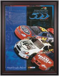"Framed 36"" x 48"" 43rd Annual 2001 Daytona 500 Program Print - Mounted Memories"