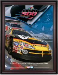 "Framed 36"" x 48"" 45th Annual 2003 Daytona 500 Program Print"