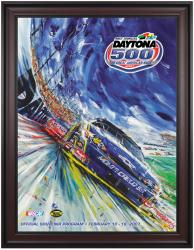 "Framed 36"" x 48"" 49th Annual 2007 Daytona 500 Program Print - Mounted Memories"