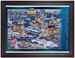 "Framed 36"" x 48"" 50th Annual 2008 Daytona 500 Program Print - Mounted Memories"