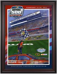 "Framed 36"" x 48"" 53rd Annual 2011 Daytona 500 Program Print - Mounted Memories"