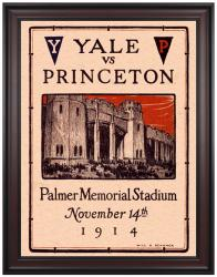1914 Princeton Tiger vs Yale Bulldogs 36x48 Framed Canvas Historic Football Program