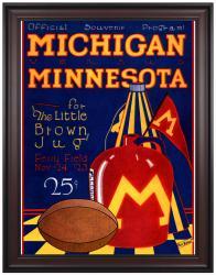 1923 Michigan Wolverines vs Minnesota Golden Gophers 36x48 Framed Canvas Historic Football Print