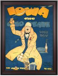 1923 Ohio State Buckeyes vs Iowa Hawkeyes 36x48 Framed Canvas Historic Football Poster