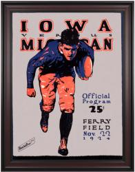 1924 Michigan Wolverines vs Iowa Hawkeyes 36x48 Framed Canvas Historic Football Poster