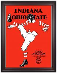 1924 Ohio State Buckeyes vs Indiana Hoosiers 36x48 Framed Canvas Historic Football Print