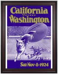 1924 Washington Huskies vs California Bears 36x48 Framed Canvas Historic Football Print