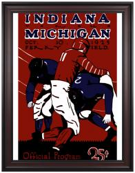 1925 Michigan Wolverines vs Indiana Hoosiers 36x48 Framed Canvas Historic Football Print