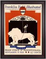1926 Penn Quakers vs Penn State Nittany Lions 36x48 Framed Canvas Historic Football Poster