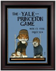 1926 Princeton Tiger vs Yale Bulldogs 36x48 Framed Canvas Historic Football Program