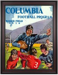 1928 Columbia Lions Season Cover 36x48 Framed Canvas Historic Football Poster - Mounted Memories