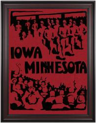 1928 Iowa Hawkeyes vs Minnesota Golden Gophers 36x48 Framed Canvas Historic Football Poster