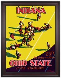 1930 Indiana Hoosiers vs Ohio State Buckeyes 36x48 Framed Canvas Historic Football Program
