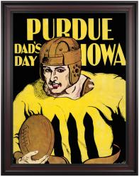 1930 Iowa Hawkeyes vs Purdue Boilermakers 36x48 Framed Canvas Historic Football Poster