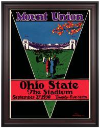 1930 Ohio State Buckeyes 36x48 Framed Canvas Historic Football Program