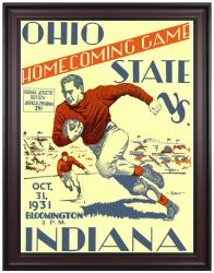 1931 Indiana Hoosiers vs Ohio State Buckeyes 36x48 Framed Canvas Historic Football Program