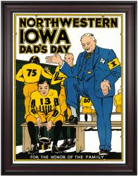 1931 Iowa Hawkeyes vs Northwestern Wildcats 36x48 Framed Canvas Historic Football Poster